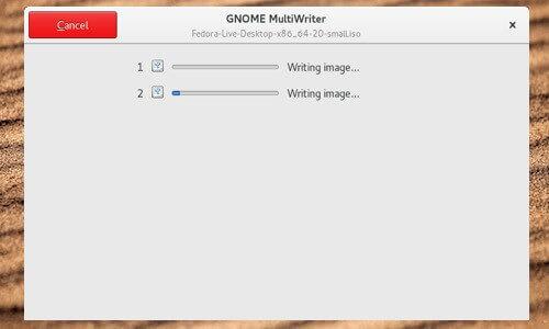 gnome-multi-writer pour créer des clés USB